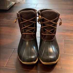 Brown Sperry Duck Boots
